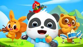 ♪やまのおんがくか♬   赤ちゃんが喜ぶ歌   子供の歌   童謡   アニメ   動画   ベビーバス  BabyBus