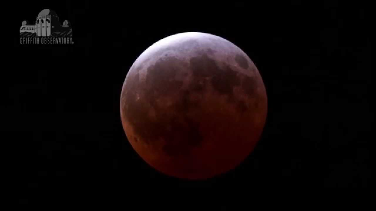 Total Lunar Eclipse April 4. 2015 Time Lapse. Four and a half hour in one minute - stabilized - YouTube