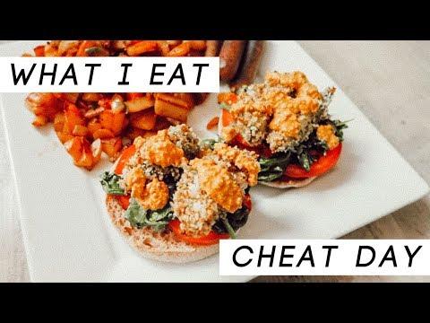 VEGAN WHAT I EAT: CHEAT DAY/COMFORT FOOD! | Caitlin Bea