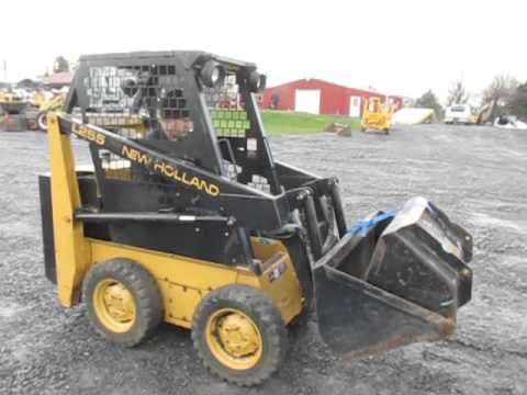 New Holland L255 Skid Steer Loader - YouTube on
