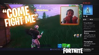 I Stream Sniped an ANGRY KID - NOW HE WANTS TO FIGHT ME IN REAL LIFE! Fortnite en direct