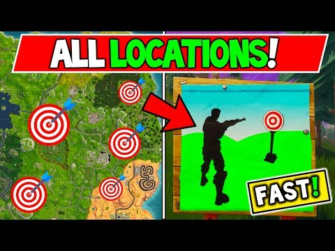 Fortnite: ALL SHOOTING GALLERIES LOCATIONS