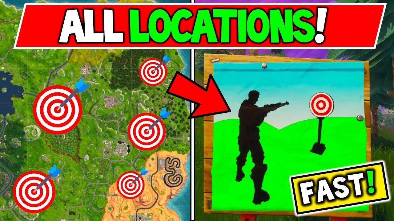 "Shooting Gallery Locatios: Fortnite: ALL SHOOTING GALLERIES LOCATIONS ""Hit 3 Targets"