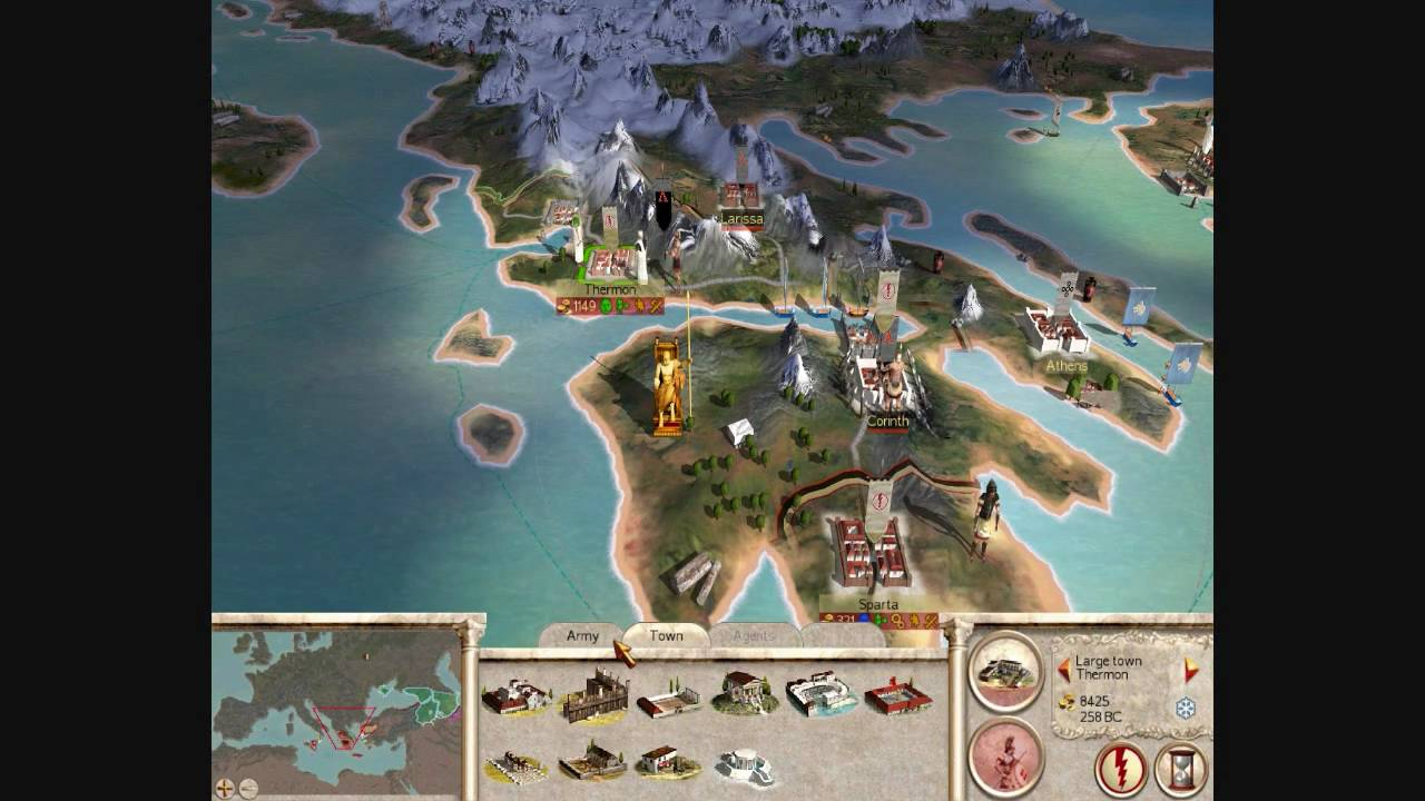 Rome Total War HD Greek City States Campaign Part V YouTube - Rome total war map city locations