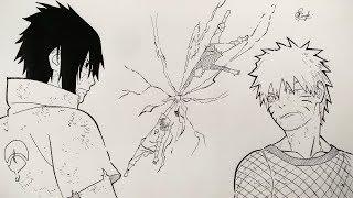 Drawing Naruto vs Sasuke (Manga Sketch) - Naruto Shippuden