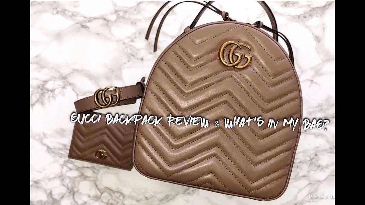 d1c88218c651 Gucci Marmont Backpack Review & What's In My Bag? - YouTube