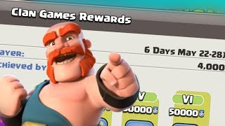 Upcoming Clan Games reward 22 - 28 may 2019 full Information Clash of Clans - Coc