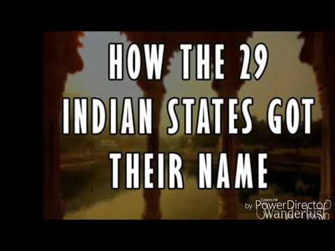 How Indian states got their name