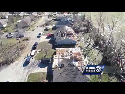 Drone shows extent of tornado damage in Oak Grove, Missouri
