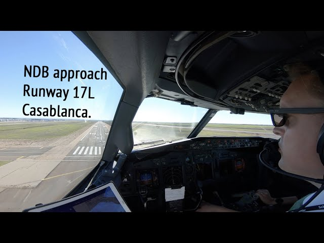 NDB approach and landing runway 17L Casablanca airport (CMN GMMN)