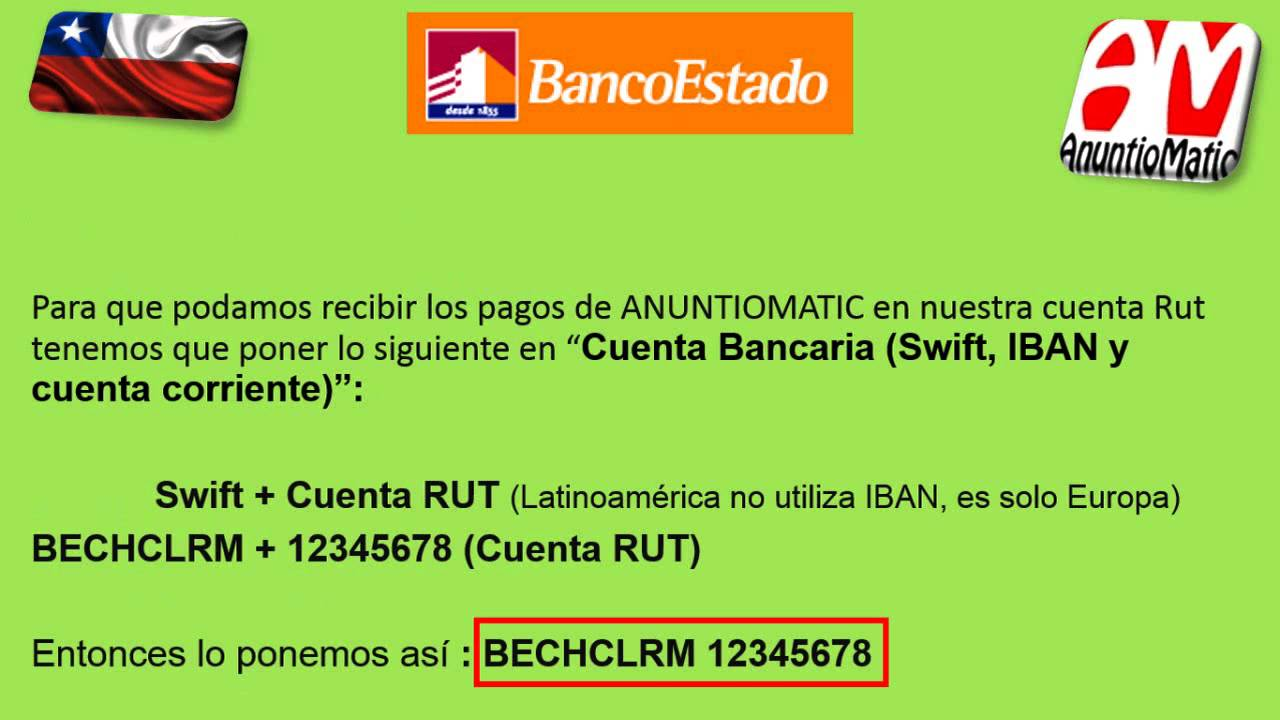 Recibir Pagos De Anuntiomatic En Cuenta Rut Banco Estado De Chile By