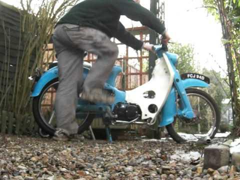 1966 Honda C100 Super Cub with Lifan 107cc clone engine - YouTube