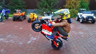 Senya Shows Cool Motorcycle Tricks