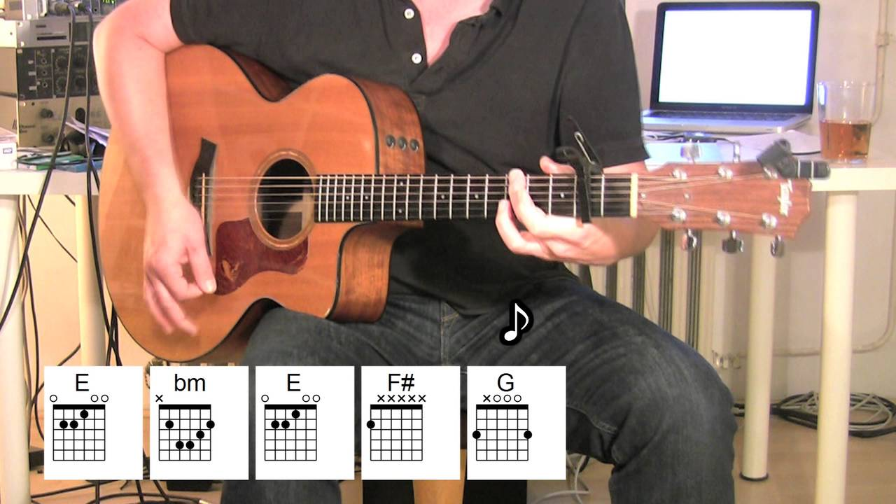 how to play happy together on guitar