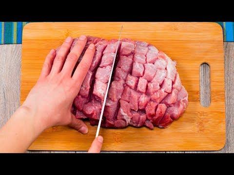 Nakrájejte vepřové maso a dejte ho na hodinu péct…Nic lepšího jste ještě nejedli,věřte mi|Chutný TV