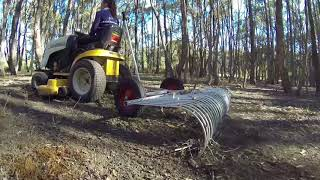 Stick Rake for ride on mower and ATV by Currie Engineering