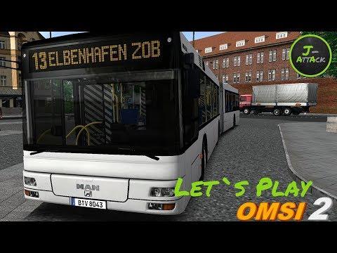 Let's Play Omsi 2 #233 ◄ I mach alles k'putt ► Elbenhafen Linie 13   Full-HD