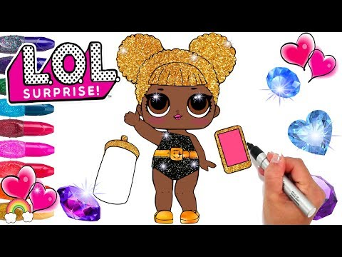 Glitter Series 3 Queen Bee LOL Doll Coloring Page | Confetti Pop Surprise | LOL Doll Printable Pages