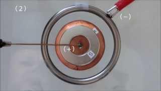 放電を用いた単極誘導モーター3
