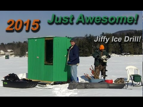 Ice Fishing - Newfound Lake - Meredith, NH Derby - Jiffy Ice Auger/Drill - Seth Beauchemin