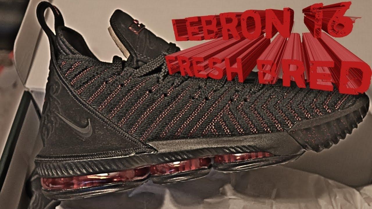 276ddb10729c Nike Lebron 16 Fresh Bred Review - YouTube