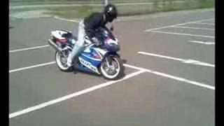 Dirty Rider beim Stoppi und Burnout