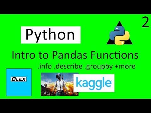 Using Kaggle PUBG data set to learn the fundamental pandas functions
