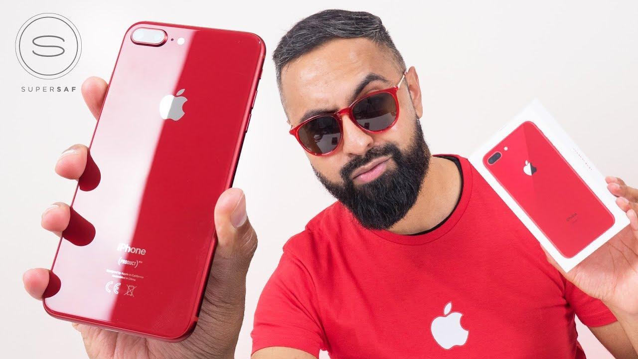 red iphone 8 plus