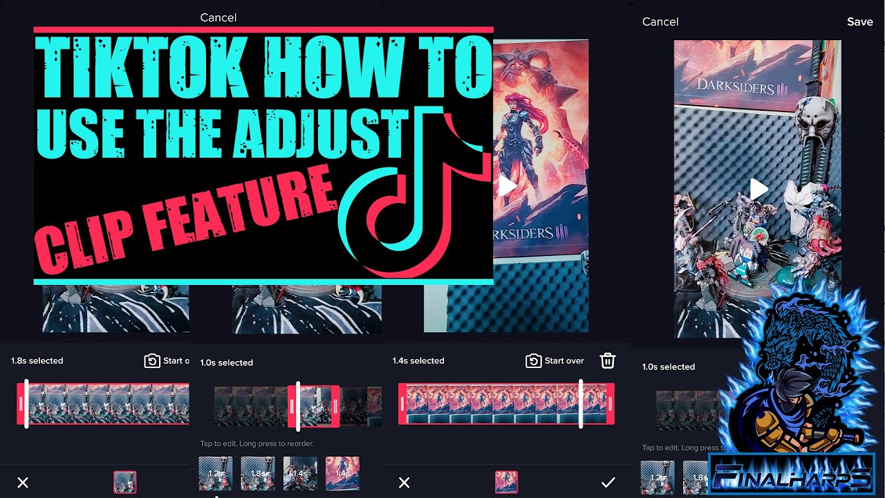 Tiktok How To Move Adjust Cut And Shorten Clips Guide For Tiktok Adjust Clip Button Youtube