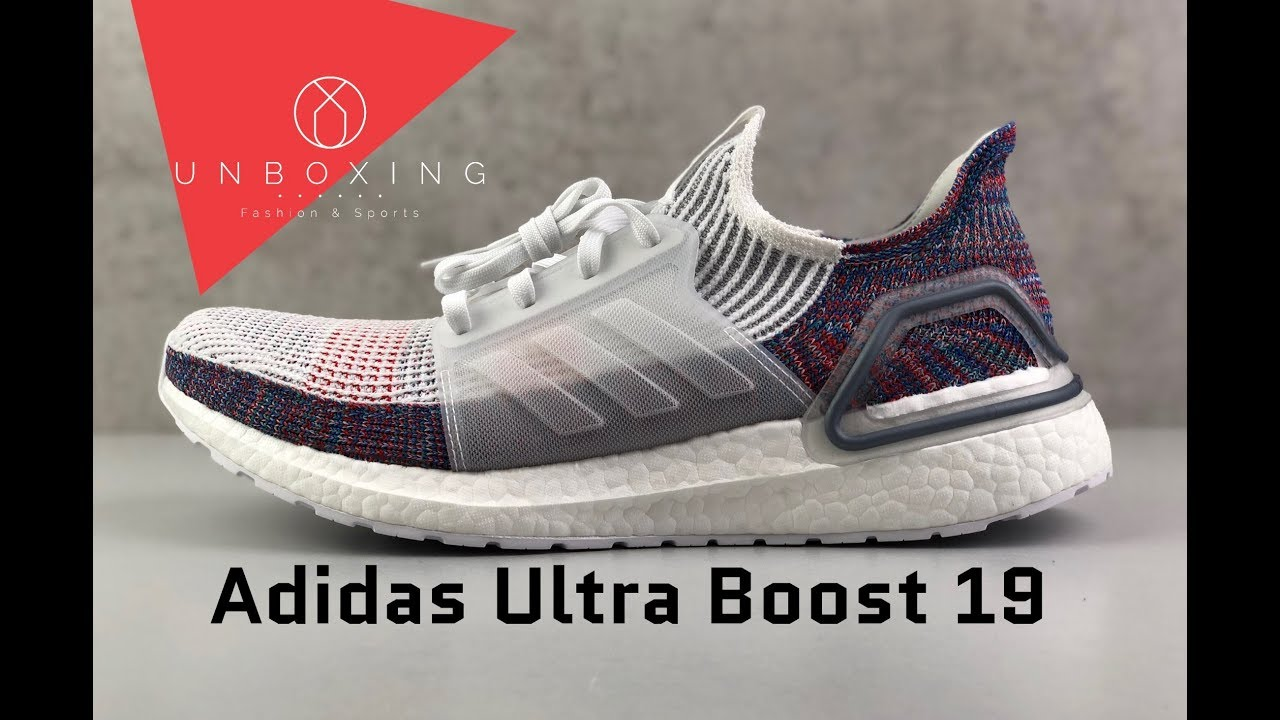 748d34d823f Adidas Ultra Boost 19 'Ftwr wht/crystal wht/blue' | UNBOXING & ON FEET |  running shoes | 2019