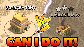 THE BOTTOM PLAYER Vs THE TOP PLAYER IN CLAN WAR!!   Clash Of Clans