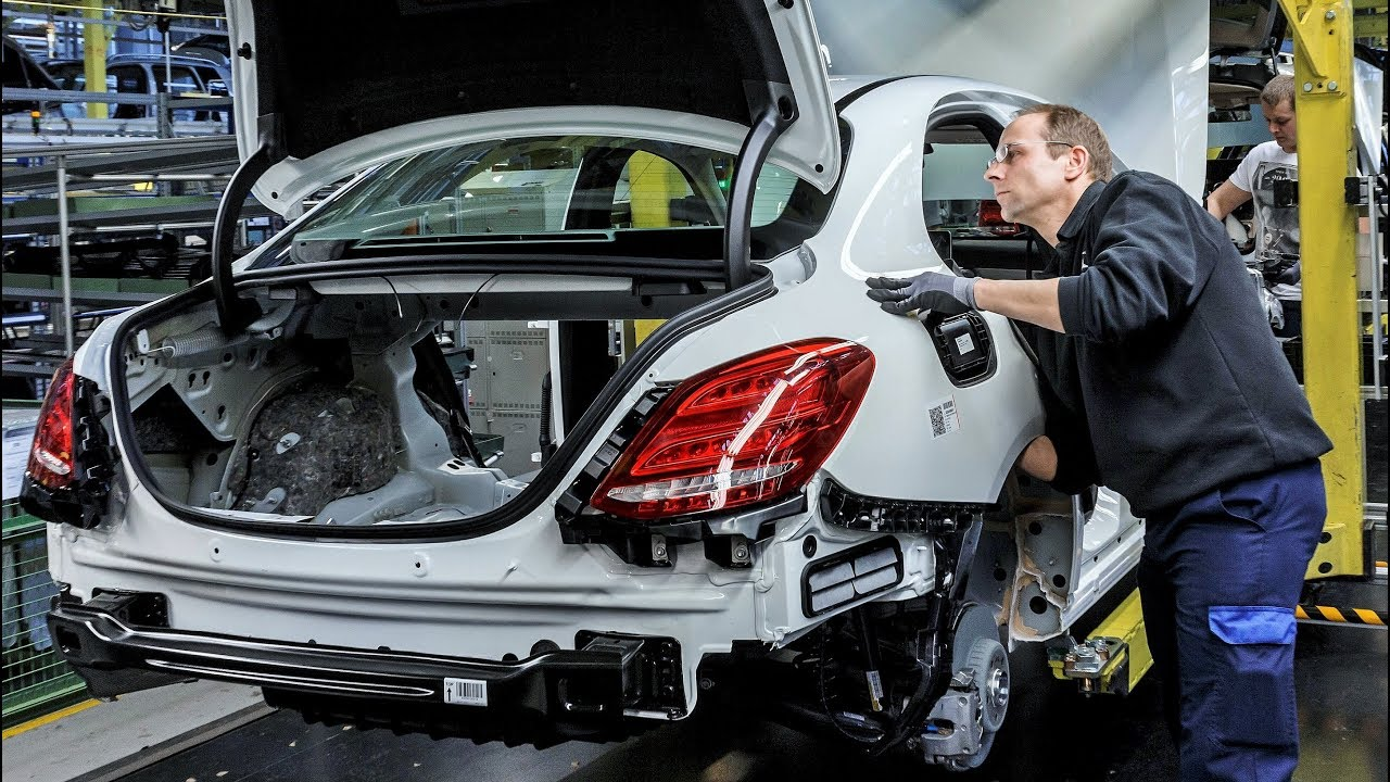 mercedes benz c-class production - youtube