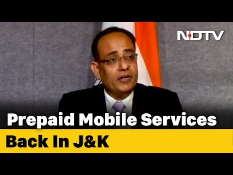 SMS, Voice Calls Restored On Prepaid Mobiles In Jammu and Kashmir