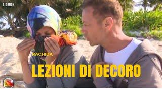 Rachida Eliminata ed Insegna il Decoro a Rocco Siffredi