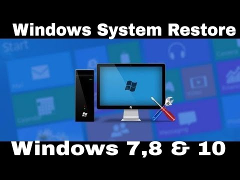Windows System Restore – Guide For Windows 7, 8 & 10
