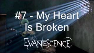 Top 25 Evanescence Songs
