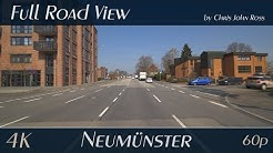 Neumünster, Germany: Stadtmitte, Gartenstadt - Rendsburger Straße - 4K (UHD/2160p/60p) Video