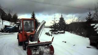 tracteur agria 4800 avec fraise a neige