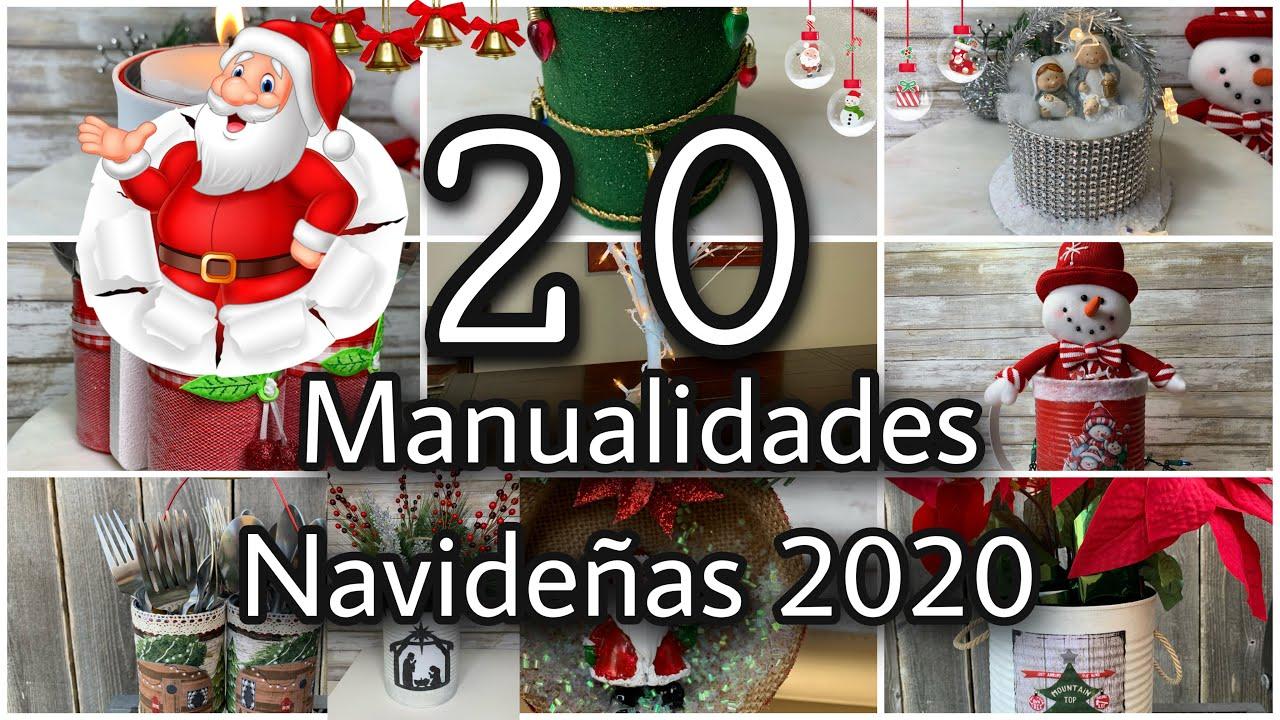 20 MANUALIDADES NAVIDEÑAS CON LATAS/Christmas DIY/DIY DECORAÇÃO DE NATAL 2020