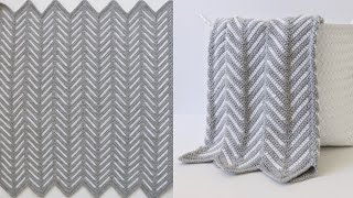 Crochet Chevron Arrows Blanket