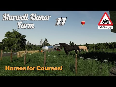 Marwell Manor Farm, #11, PS4, Farming Simulator 19, Horses For Courses! Let's Play/Role Play.