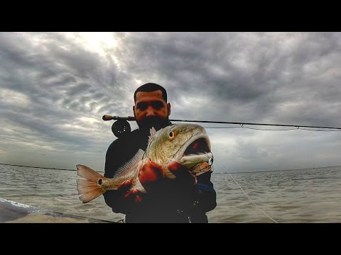 FLY FISHING For Redfish In The FLATS!!