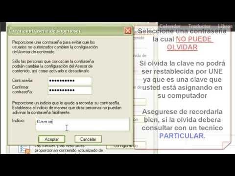 Bloquear Paginas Internet Explorer 6, 7 y 8 (Asesor de Contenidos)