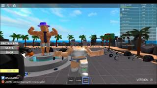 PELEA A FUA FUA XD! WEIGHT LIFTIING SIMULATOR 2! ROBLOX