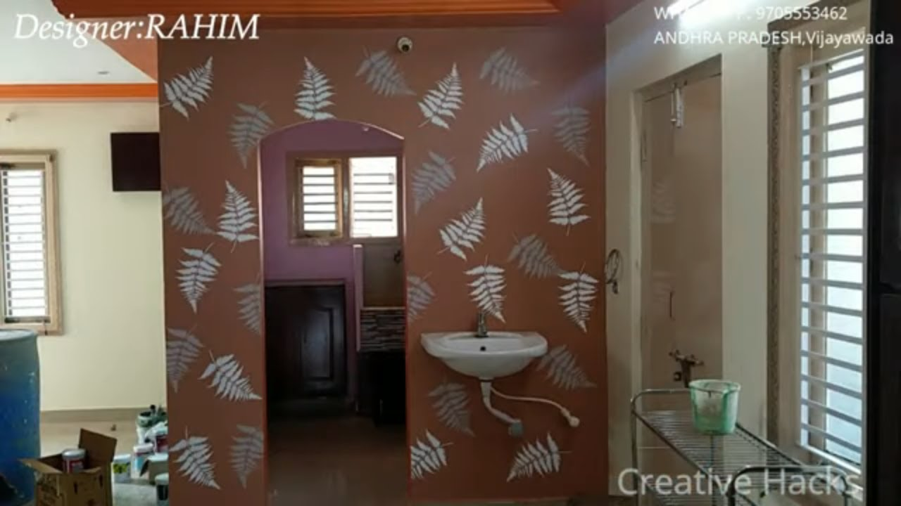 Easy Stencil designs for wall painting | Stencil ideas for kitchen walls