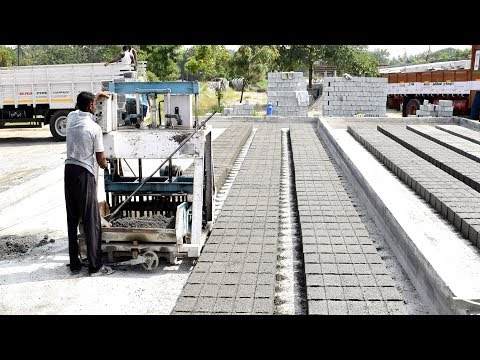 Hollow Bricks Making Process In India || Hollow Block Making Video In India || Tamil Technic
