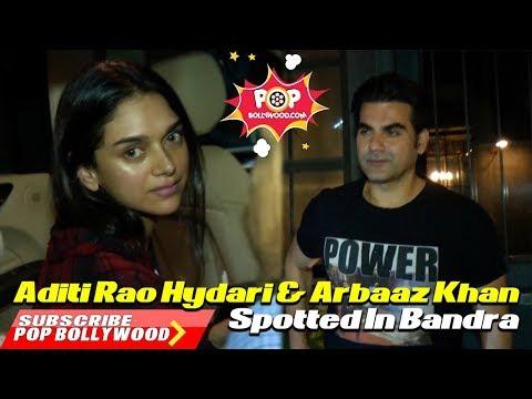 Aditi Rao Hydari & Arbaaz Khan Spotted In Bandra