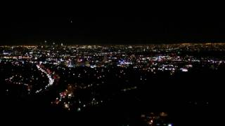 Lights of Los Angeles from Mulholland, California