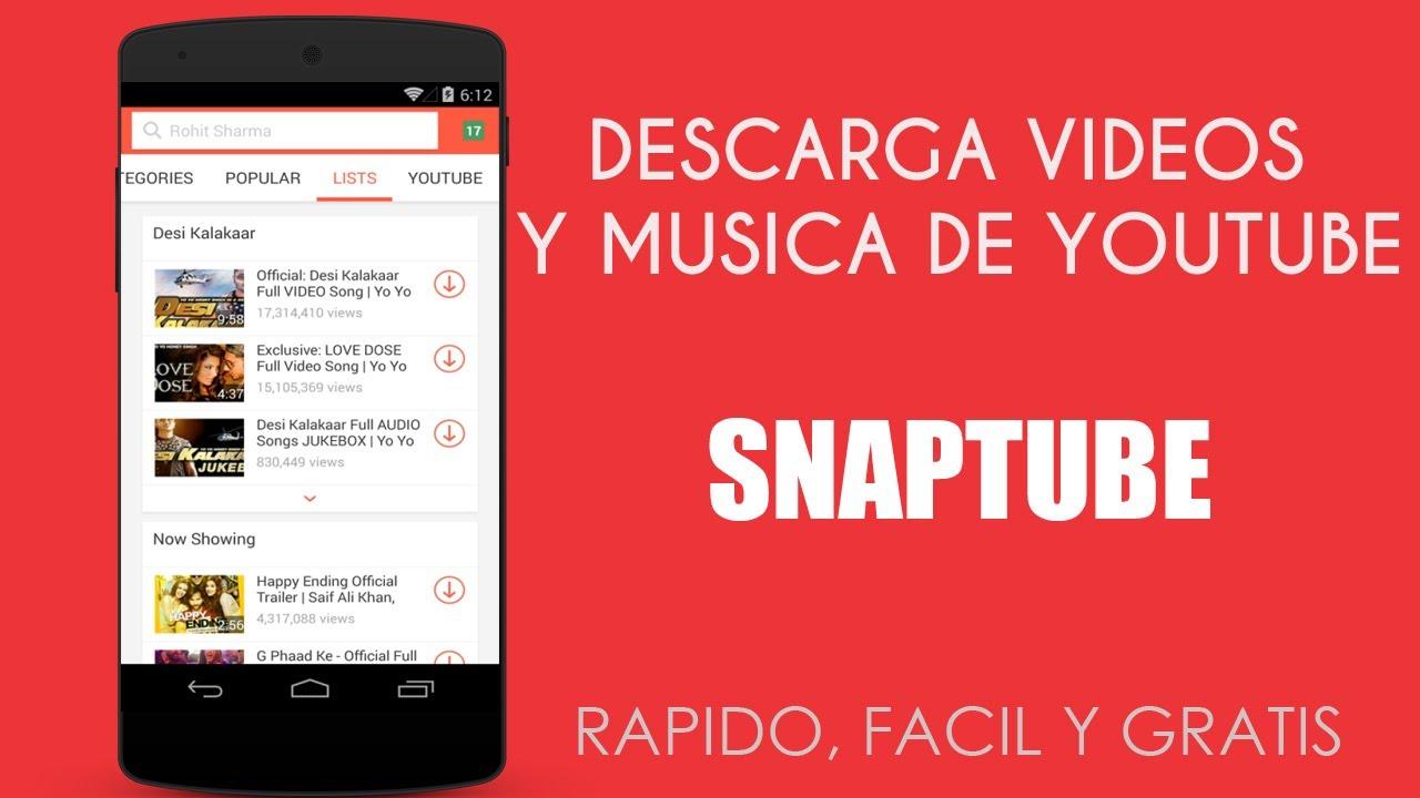mejor app para descargar musica y videos android