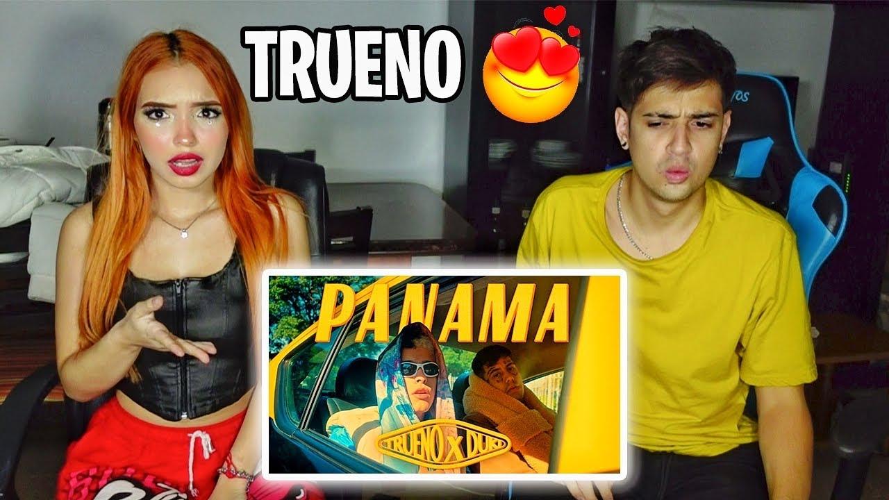 REACCION con MI AMIGA a Trueno, Duki - PANAMÁ (Video Oficial) *TEMON*